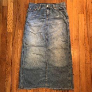 GUC Distressed Long Jean Skirt